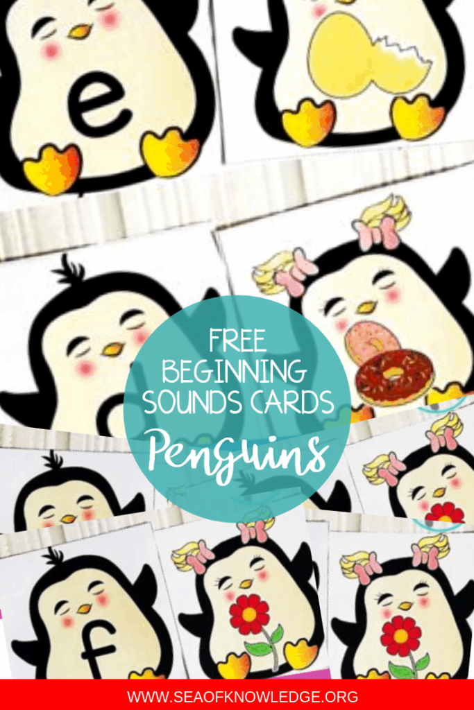 Penguins Beginning Sounds Activities – Super Cute Matching Cards!