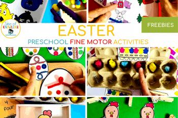 Fantastic Fine Motor Easter Centers for Preschoolers!
