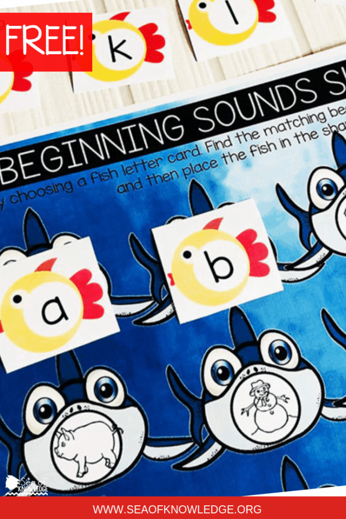 Shark Beginning Sounds Activities can be LOTS of fun – these shark mats are easy prep and kids won't even realise they're learning. Beginning sounds activities are an integral stepping stone to developing fluent readers. Pick up your free copy of these cards in this post below!