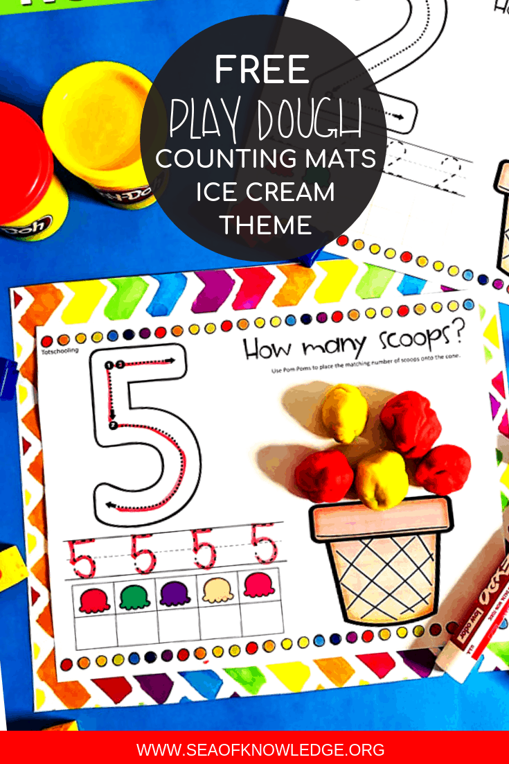 Ice Cream Play Dough Printable Mats