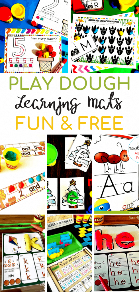 picture about Printable Mats known as The Top Listing of Perform Dough Printable Mats - Sea of