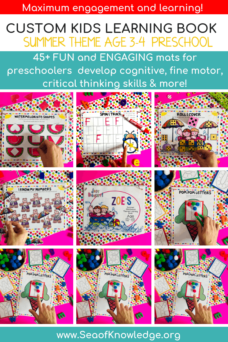 graphic regarding Printable Cognitive Activities for Adults identify Summer months Chaotic Guide Printables Age 3 - Tailor made Standing Functions!