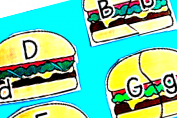 Burgers Alphabet Matching Cards