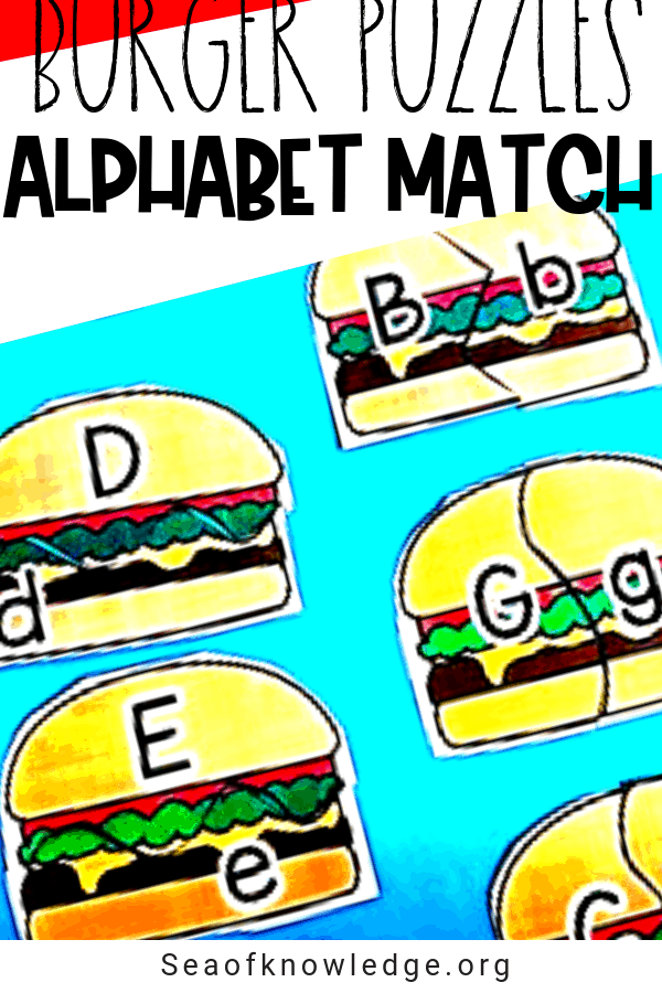 Burger Alphabet Matching Cards – Self-correcting Puzzles!