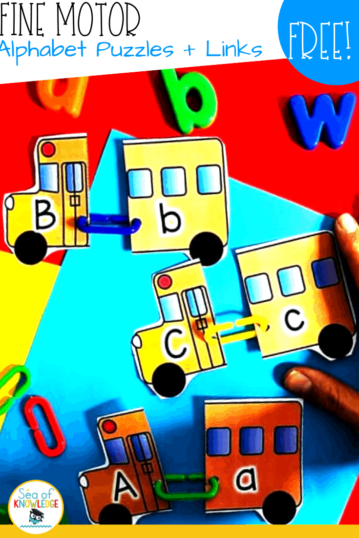 Bus Alphabet Matching Cards – Fine Motor Links!