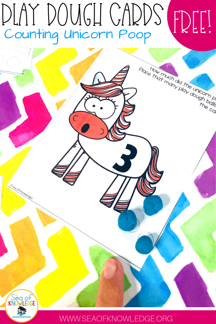 Unicorn Counting Cards Teaching Number Sense FREE Printable Cards!
