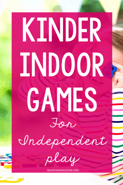 We all get those days! This post will show you some quick and easy Independent Kinder Indoor Games that kids can play on their own. Indoor recess, indoor lunch are words that no teacher wants to hear even though we know that they are bound to happen.