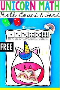 Unicorn Mat Preschool Math Activities
