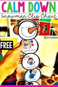 Calm Down Snowman Chart