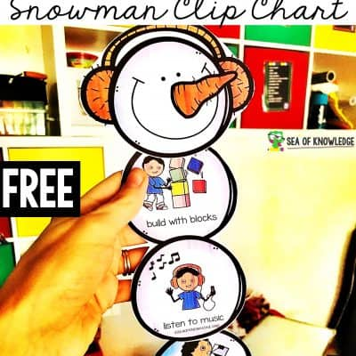 Calm Down Snowman Kit Promote a Way to Help Kids Deal with Feelings!