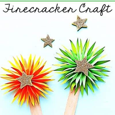 Firecracker New Year Craft for Preschoolers