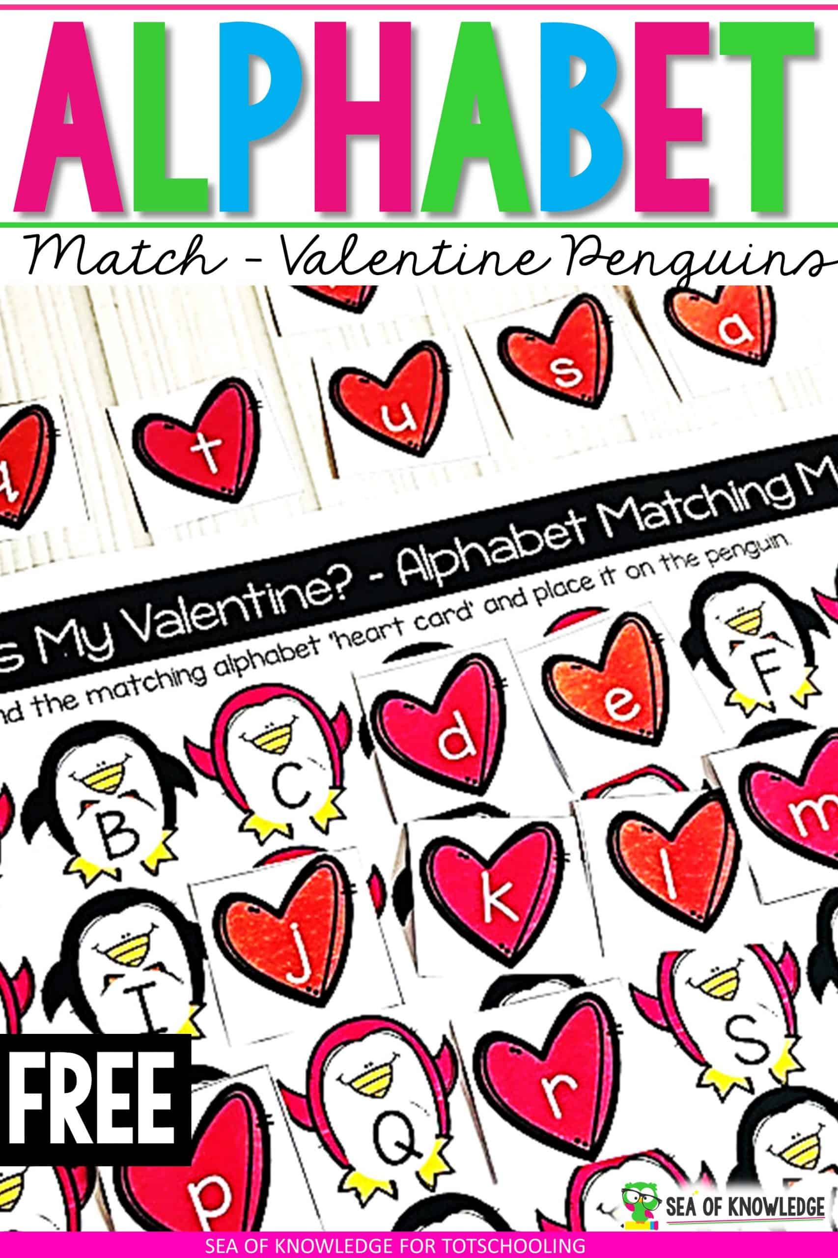 Teaching alphabet recognition? I know how hard it can be trying to find ideas to teach the alphabet let alone finding things that can motivate kids to want to learn. These Valentine Penguin Alphabet Matching Cards will be a hit with your students.