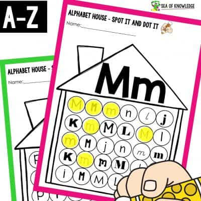 Alphabet Houses Do a Dot Printable Book Super Cute and Easy Prep!