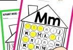 Alphabet Houses Do a Dot Printable Book