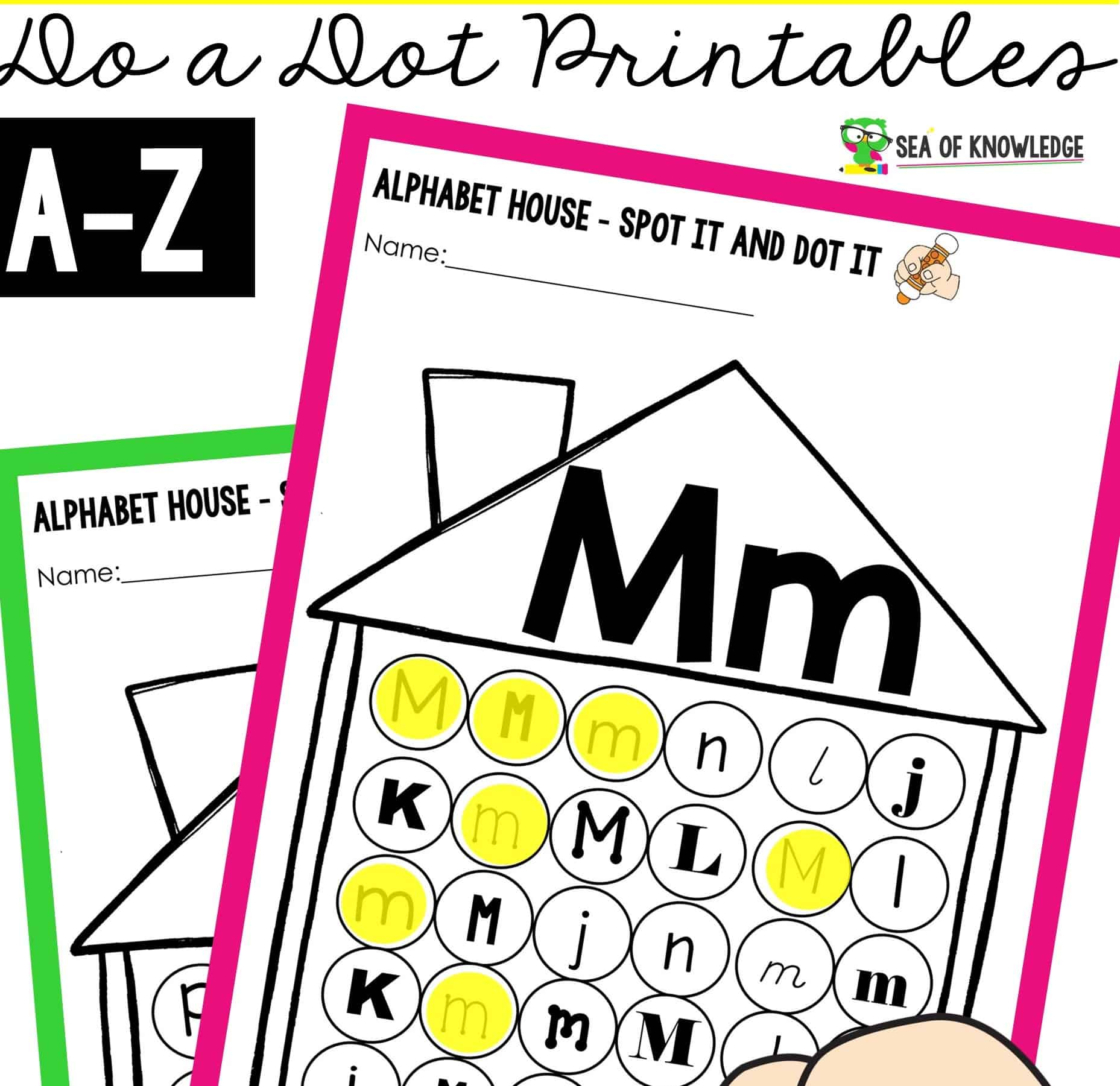 Alphabet Houses Do a Dot Printables2