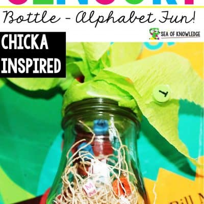 Chicka Chicka DIY Alphabet Sensory Bottle Super Simple to Make!