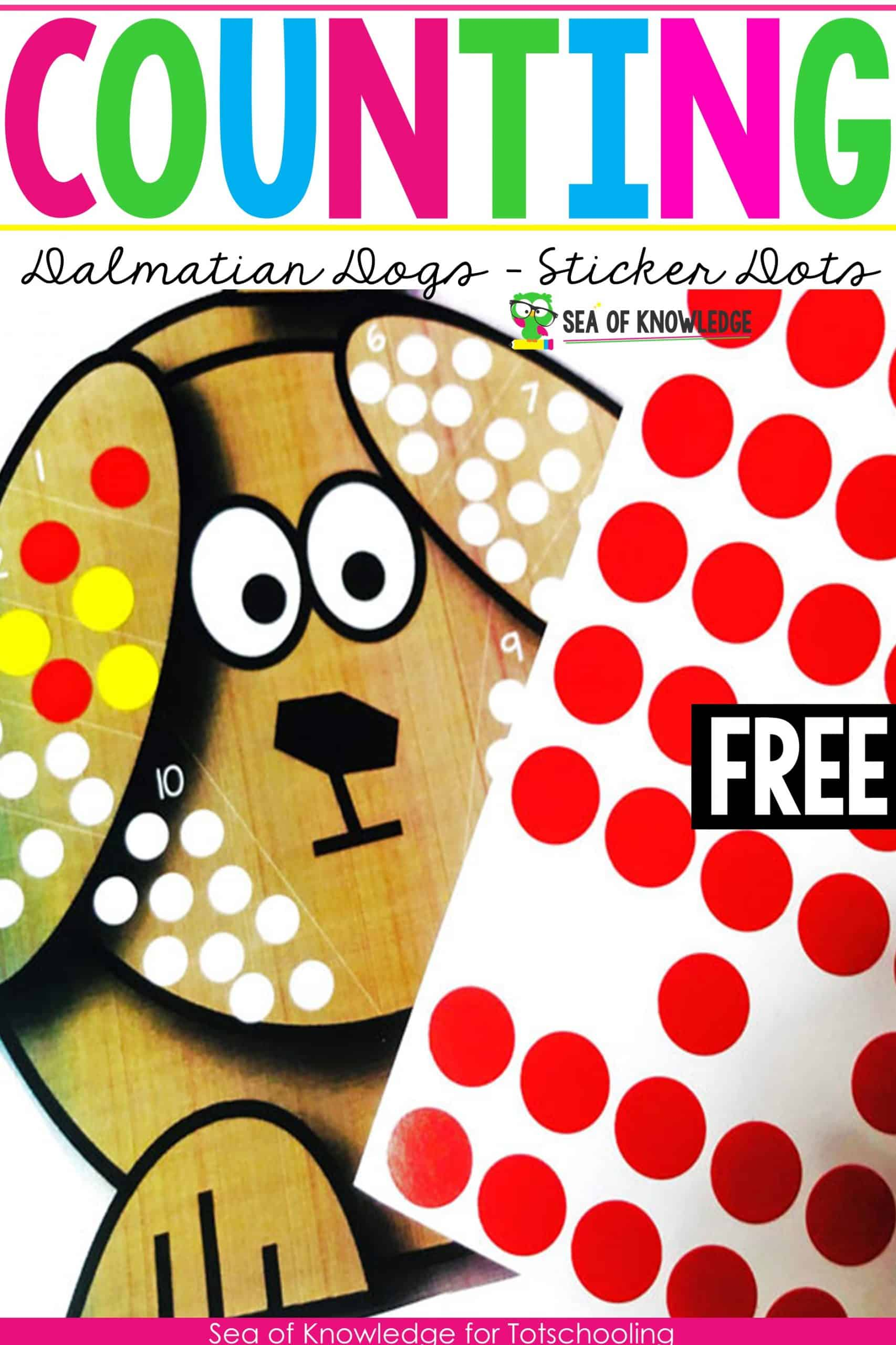 This Counting 1 to 10 Dot Stickers Dalmatian Dogs activity will sure be a hit with your little learners! Looking for a fun way to get kids to count and show their numbers? These fun dalmatian dogs themed printable cards are perfect for that. Learners will identify the number on each section and then place that many dot stickers to fill the 'dots on their dogs'.