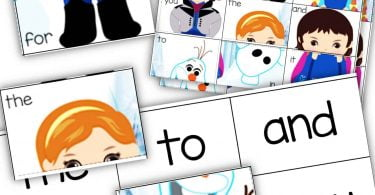 Frozen Sight Word Worksheets Puzzles