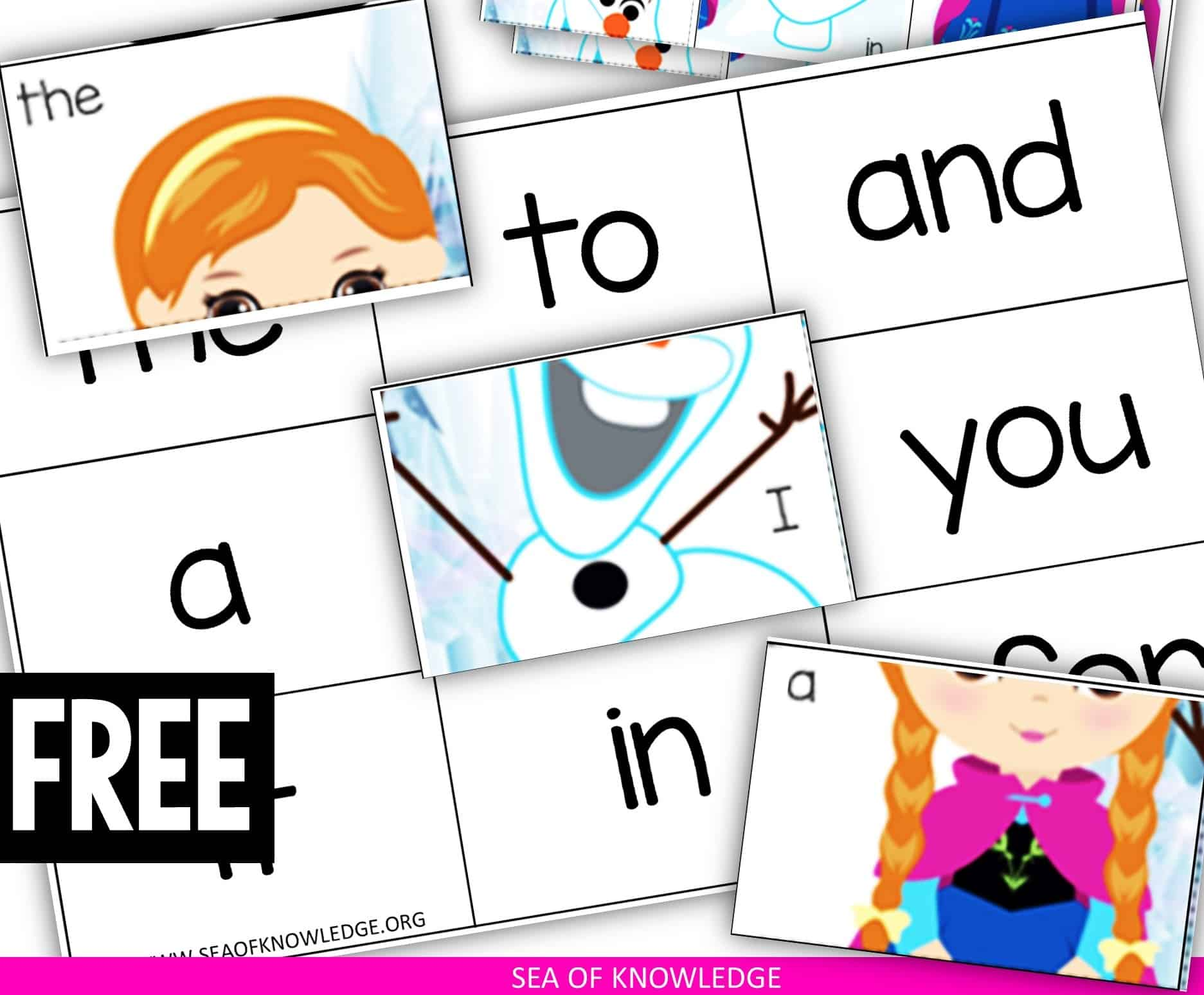 Need more ice Princess Frozen Sight Word Worksheet Puzzles? Look no further, these super cute printables are easy to use and practically no prep perfect for preschoolers and kinders.