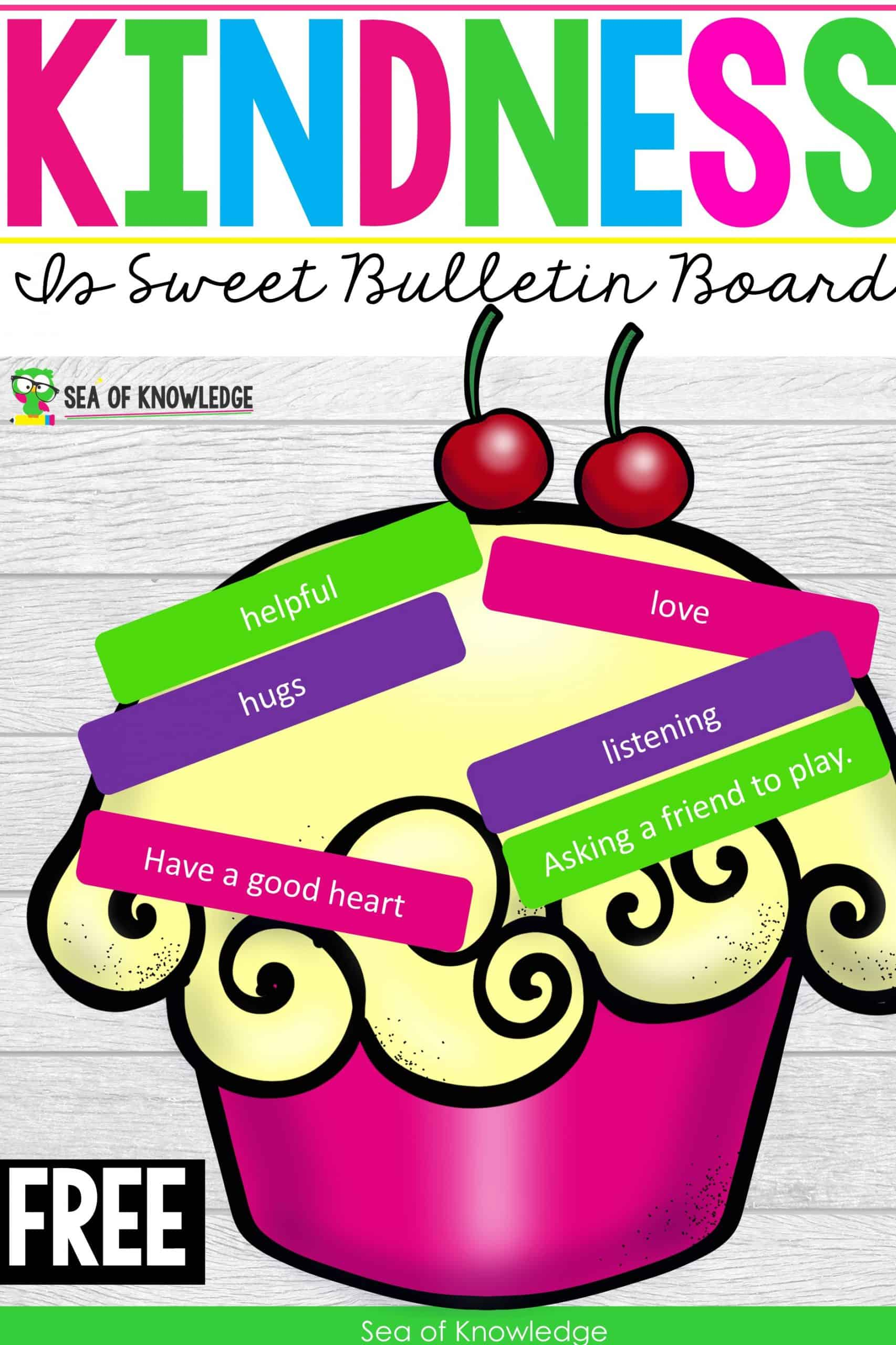 If you're looking for a way to unite your students from the start of the school year. Look no further, these Kindness is Sweet Bulletin Board Ideas will be a hit with your students. There are also writing templates for older kids. These can work for kids in preschool to third grade!