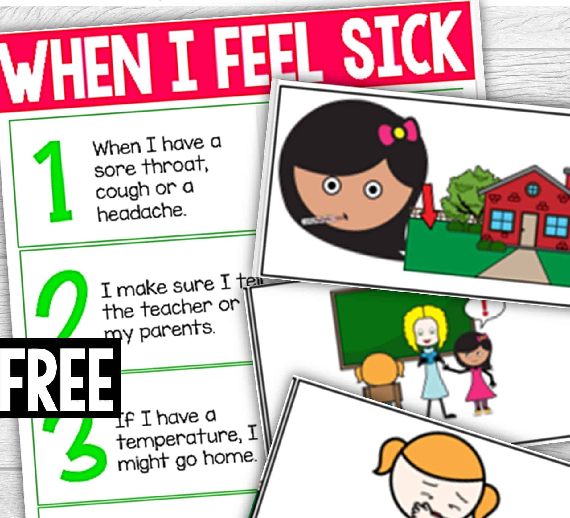 These FREE Sick Posters for Classrooms were created in a rush to help curb the newest virus sweeping the world. Usually the start of autumn is a happy one. Pumpkins filling the shelves, beautiful warm but not hot weather. But there is something slightly off-putting about autumn - sickness. That's right.