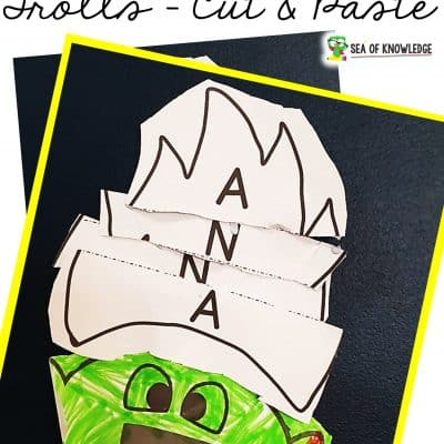 Name Activity Craft Trolls Cut and Paste