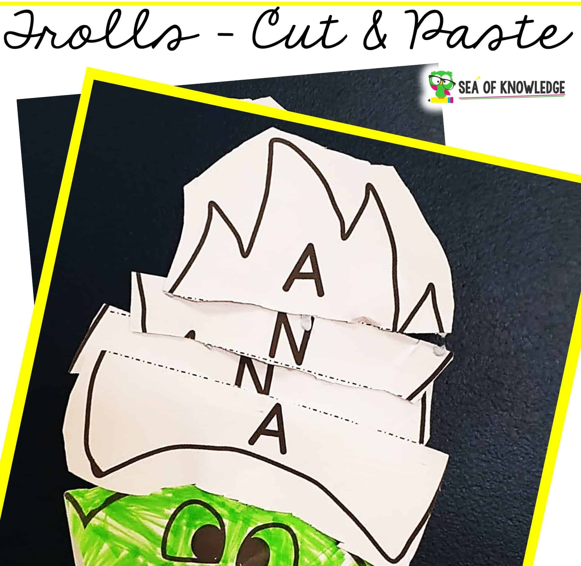 There are so many advantages to having Name Activity Crafts on hand, first they provide plenty of name recognition practice along with much needed fine motor practice. This fun Name Activity Craft Trolls Cut and Paste will be the perfect addition to your name recognition activity literacy centers or at home practice.