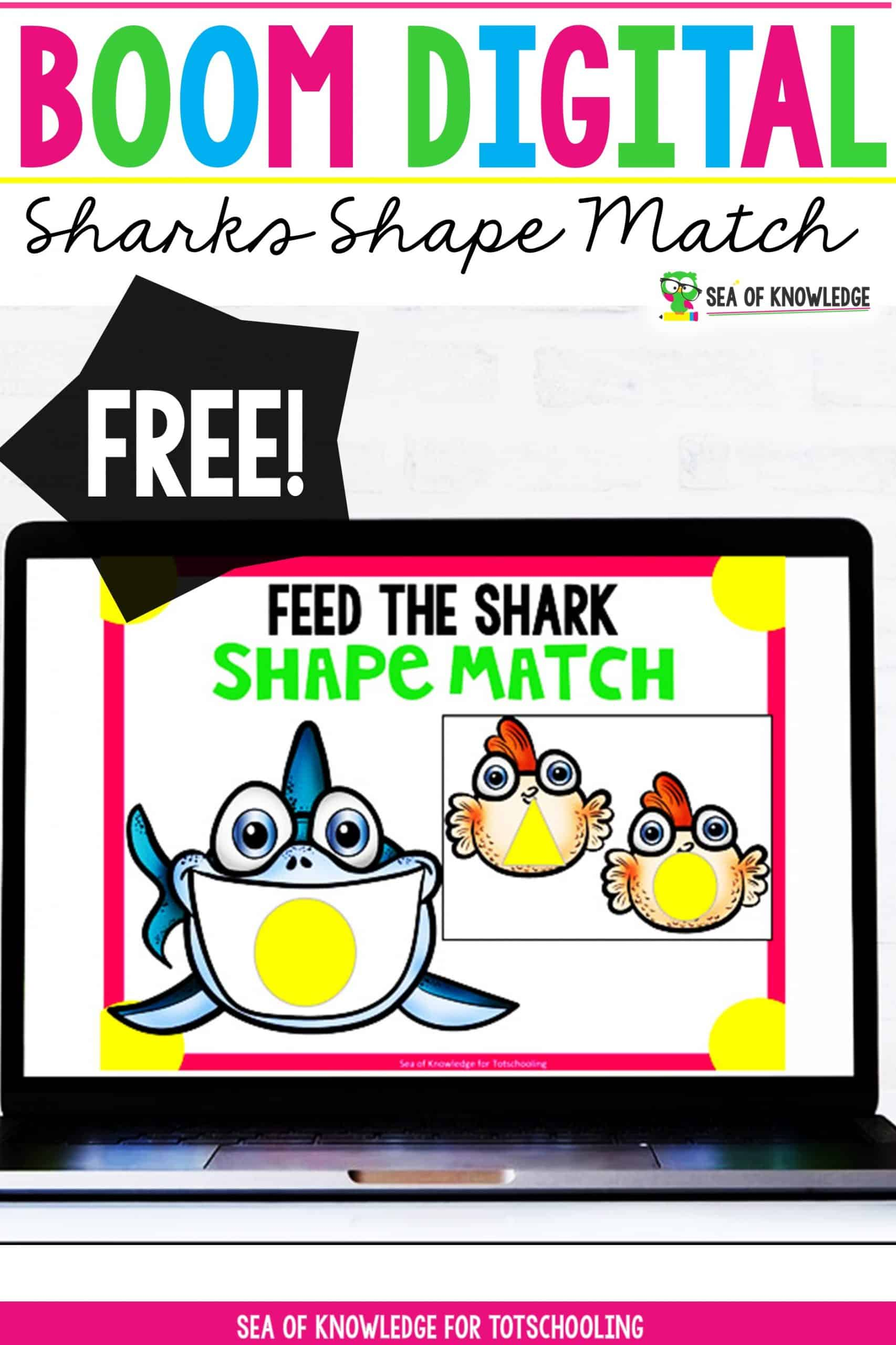Looking for some FUN Sharks Shape Matching Digital Cards for distance learning? These digital task cards will be a hit with your students! The best part? They are self-correcting and can be used on any device like iPads, tablets computers and more.