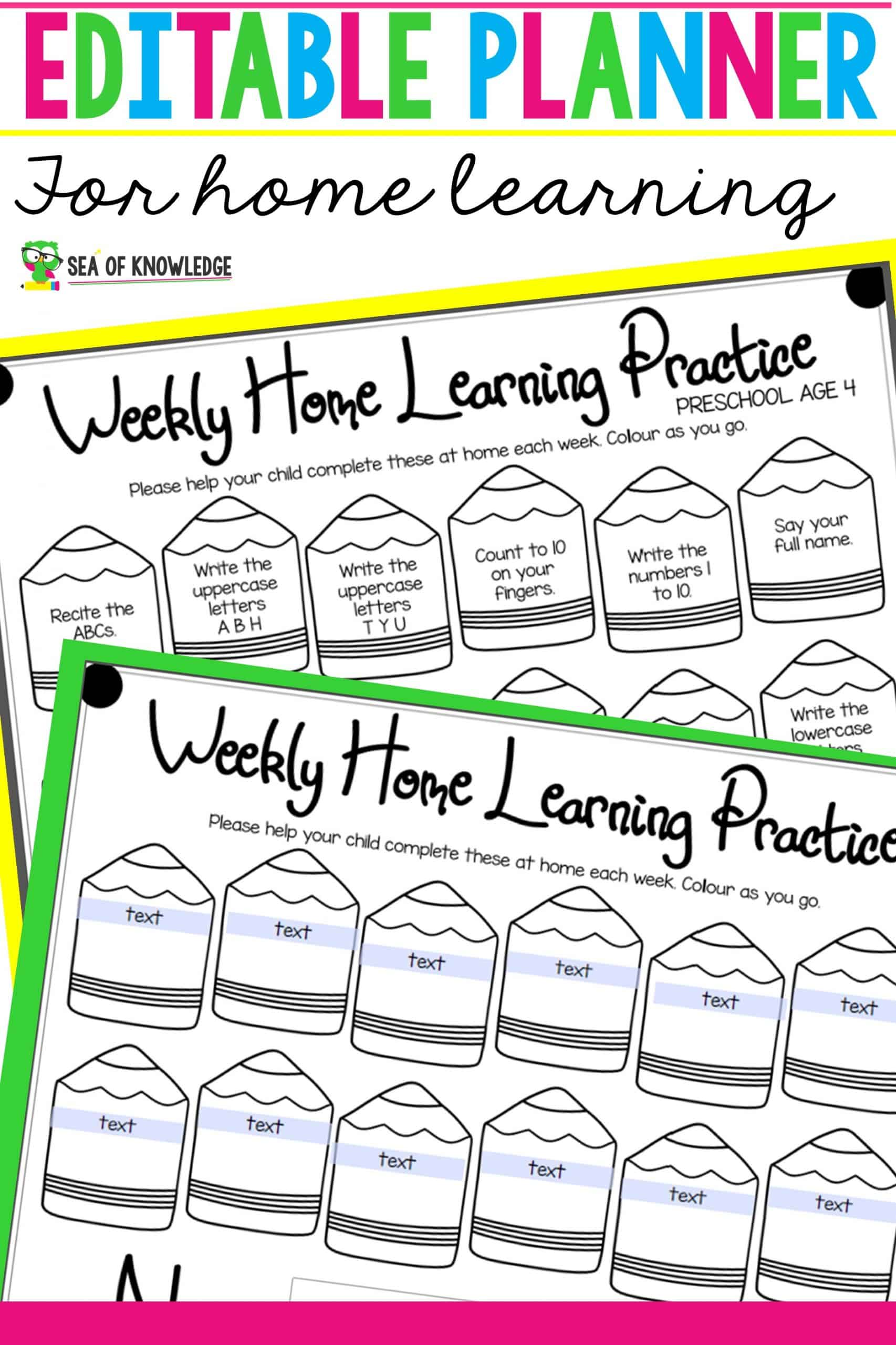 Need a set weekly planner to use for home learning? This is the one you're looking for! I created this to use with my own kids. Need one to be versatile and editable, so you can change up the goals as you go each week? This is perfect for that! Pick up your Editable Weekly Planner for Home Learning below!