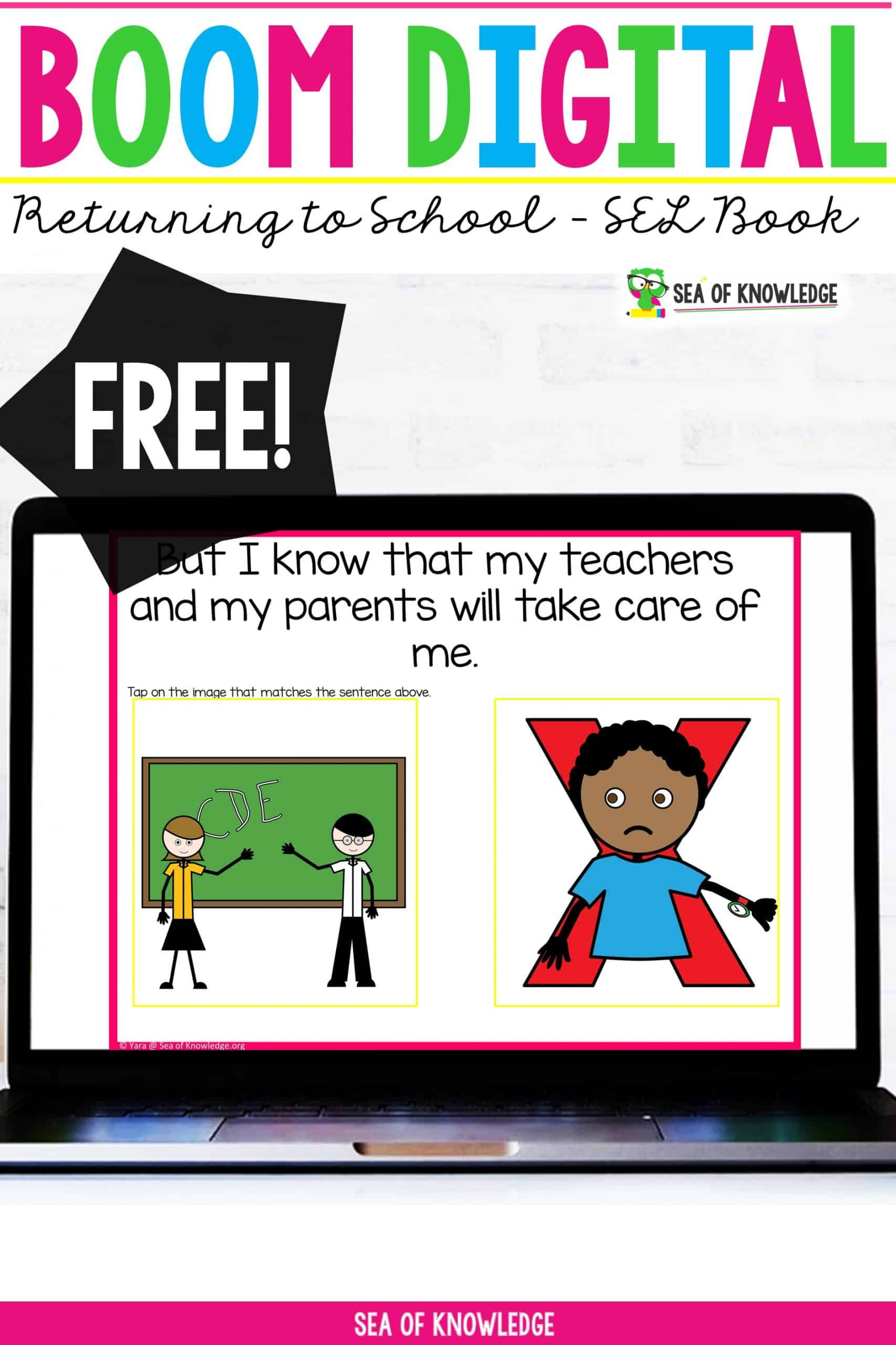 Preschoolers and toddlers will learn how to cope with their emotions with this interactive activity book. This book Social Story About Returning to School after Covid19 is a great way to ease kids back into the classroom.  These digital SEL books were created specifically to target specific emotions that kids feel and how they can cope when they feel these emotions. There are 16 slides with picture prompts. Preschoolers will need guidance as it needs to be read to them, but they can choose the correct picture response after each slide is read. Best of all, this book is completely FREE!