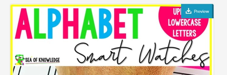Need some new and fresh ways to get your preschool kidslearning their alphabet letters A-Z? Also need a way to engage the littles in learning their alphabet? These Alphabet Formation Beginning Sounds Smart Watcheswill be a hit! They are just the addition you need to your letter of the week program!