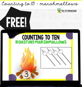 These super fun Counting to 10 Marshmallow Roast digital Cards are perfect for distance learning. These digital task cards will be a hit with your students! The best part? They are self-correcting and can be used on any device like iPads, tablets computers and more.
