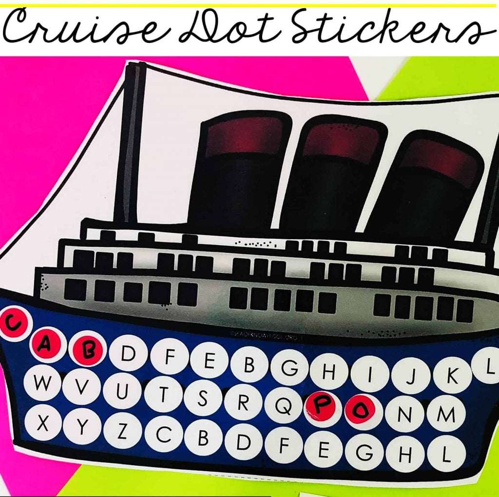 This Alphabet Match Dot Stickers Cruise Ship activity will sure be a hit with your little learners! Looking for a fun way to get kids to match their alphabet letters? These fun cruise ship themed printable cards are perfect for that. Learners will identify the alphabet letters on the cruise ship where the windows are supposed to be.