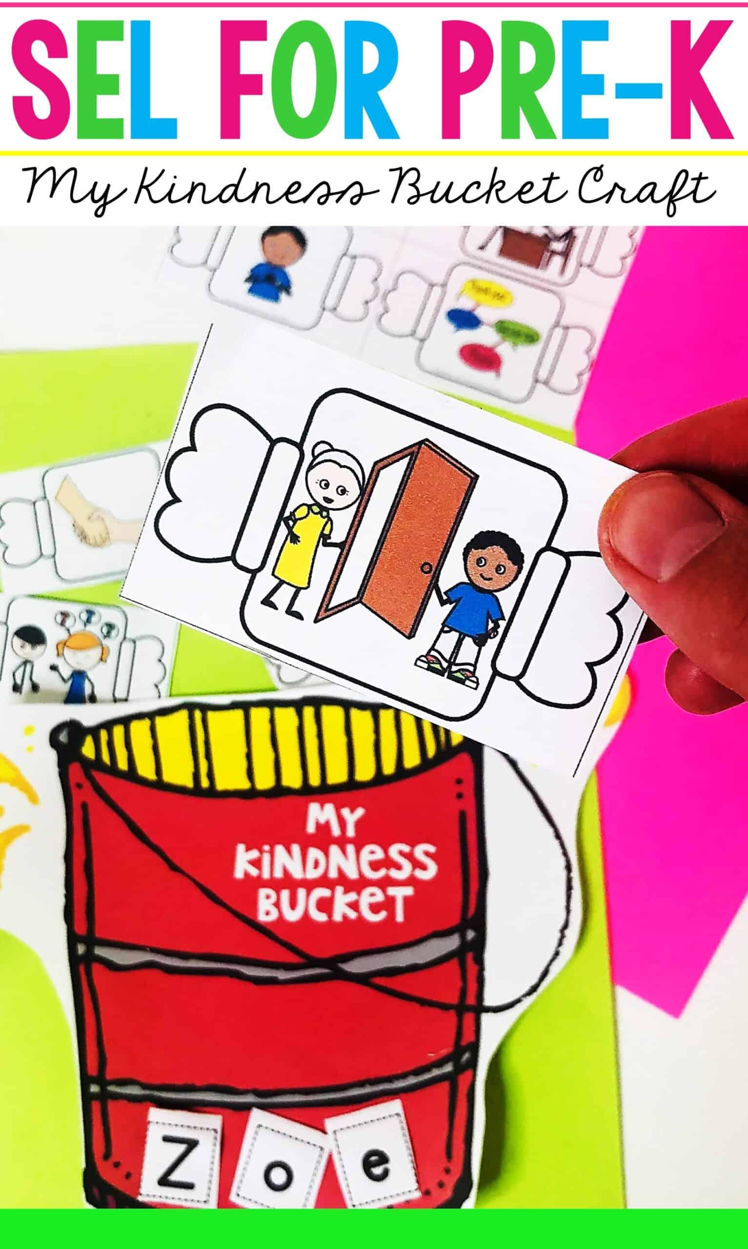 Kindness Art Activities for Preschool Fill a Bucket Craft ...