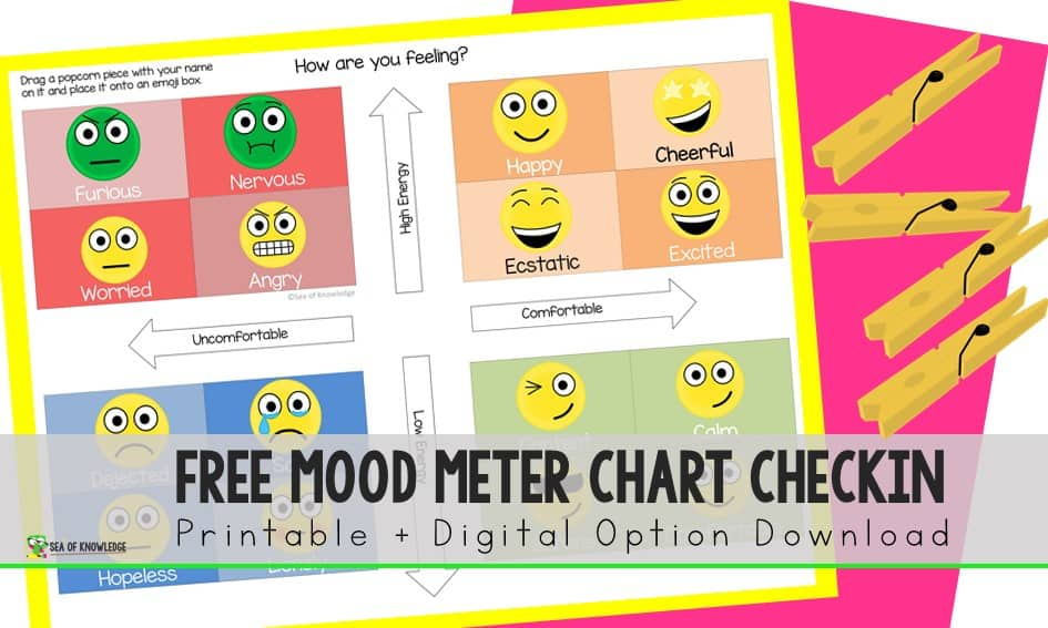 How important is it to create an open and friendly environment for students in the classroom. Download your free copy of this mood checkin chart for kids!