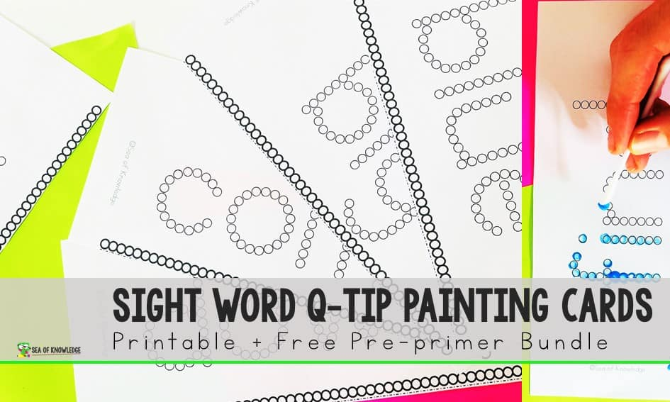 Q-tip Painting Sight Words A Fine Motor Activity