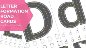 Letter Formation Alphabet Road Task Cards