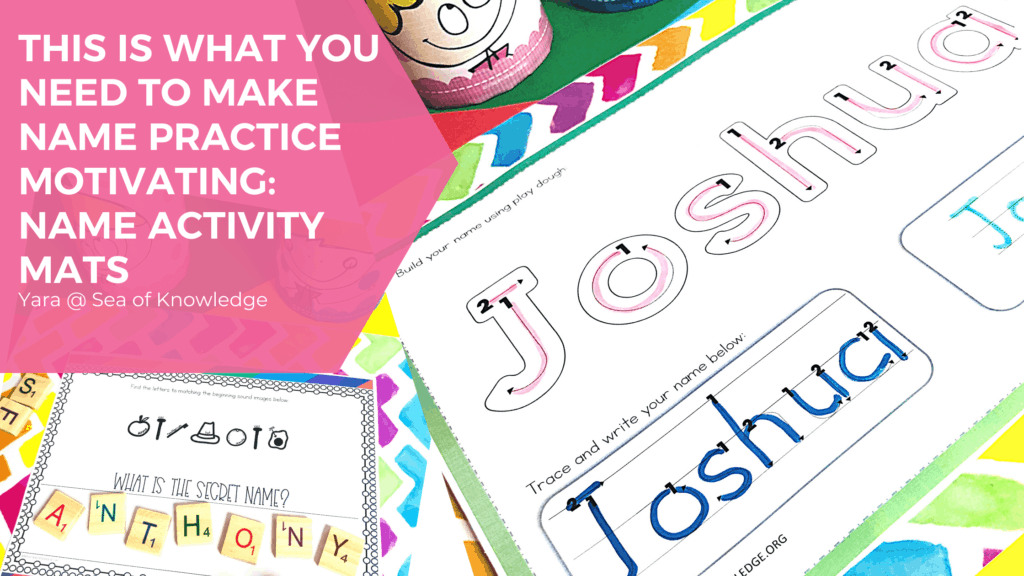 There are so many ways that your kids can work on name writing practice with these editable name activity mats. I'll show you some easy ways you can work on names with your child, or some simple ways you could use name activity mats to help them throughout this process. Name Tracing Practice can be so much fun!