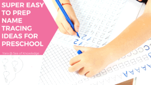 Name Tracing Printables and Ideas for Preschool