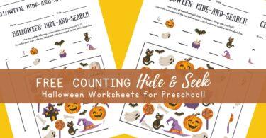Preschool Counting Worksheets Halloween