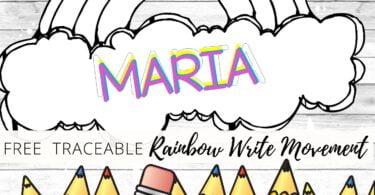 Rainbow Write Preschool